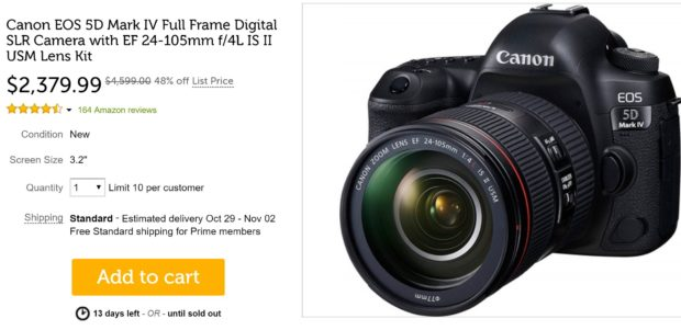 Super Hot – 5D Mark IV w/ 24-105 Lens for $2,379, 6D Mark II for ...